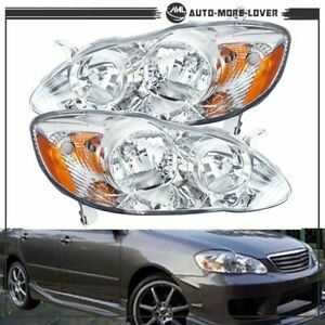 New Replacement Headlamps Headlights Left Right For 2003 2008 Toyota Corolla