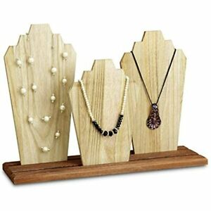 Wooden Necklace Holder Jewelry Display Bust Stand Stands Organizer Home