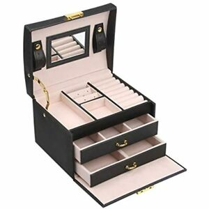 Gifts For Her Girl Women Jewelry Box Organizer Display Storage Case With Lock