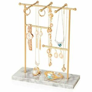 Marble Jewelry Tree Stand Holder Necklaces Earrings Jewelry nbsphanger Display