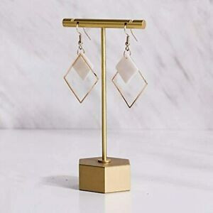 Metal Gold 4 5 1pc Earring T Bar Stand Retail Display Holders For Show Jewelry