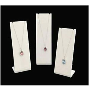 Modern White Acrylic Jewelry Display Stands For Shows Trade Exhibit Photo Props
