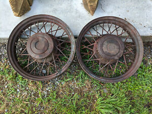 1930 Antique Wire Spoke Wheels Rims Pachard Ford Chevy Gm