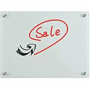 Magnetic Glass Dry Erase Whiteboard 24 X 18 Inches Board With 3 Magnets And Pen
