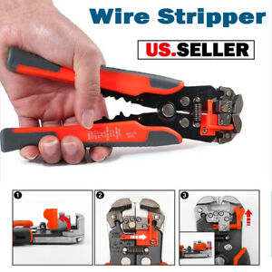 3in1 Auto Self adjusting Wire Stripper Cutter Cable Crimper Pliers Terminal Tool