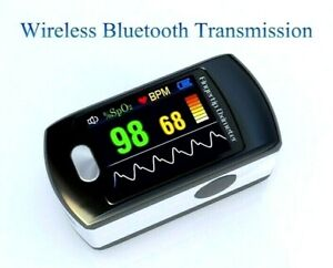 Contec Color Oled Bluetooth Rechargeable Finger Pulse Oximeter Usb Cd rom