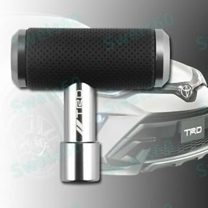 Leather Car For Trd Silver Shift Knob Aircraft Joystick Transmission Racing Gear