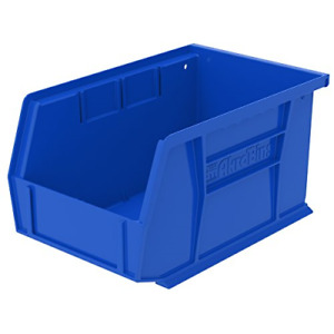 Plastic Storage Bin Hanging Stacking Containers 9 X 6 X 5 Inch Blue 12 Pack New