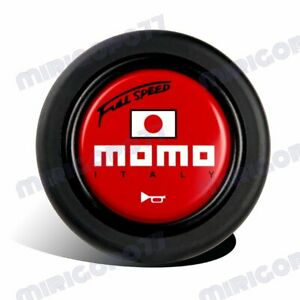 Momo Full Speed Steering Wheel Horn Button Sport Competition Tuning 59mm Red