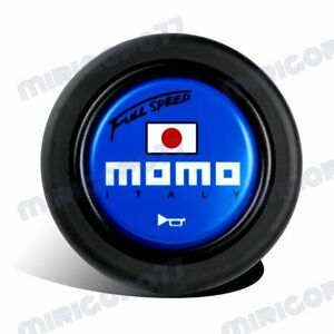 Momo Full Speed Steering Wheel Horn Button Sport Competition Tuning 59mm Blue
