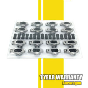 Stainless Roller Rockers Arms W Polylocks 1 6 Ratio 3 8 Studs Chevy Sbc 350