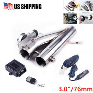With Remote Kit 3 Inch New Exhaust Control E cut Out Dual Valve Electric Y Pipe