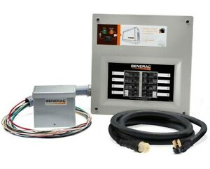 Generac Homelink Pre wired Manual Transfer 50 Amp Switch W Power Inlet Box