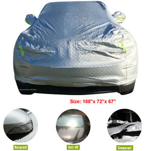 Aluminum Car Cover Stormproof Waterproof Durable Outdoor Fit For Suv Chevy New