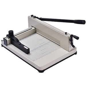 Professional Paper Cutter Machine Manual Handle Sharp Blade Office Supply Base