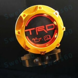 Trd Racing Gold Engine Oil Filler Cap Oil Tank Cover Aluminium For All Toyota