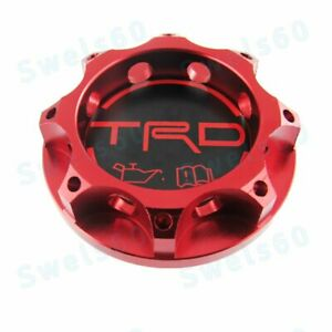 Trd Racing Red Engine Oil Filler Cap Oil Tank Cover Aluminium For All Toyota Car