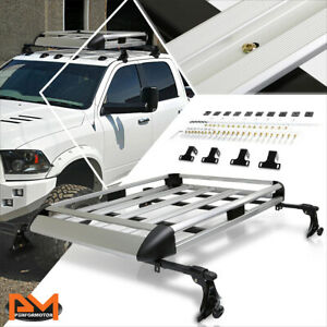 50 X 31 Aluminum Roof Rack Adjustable Van Suv Top Crossbar Baggage Cargo Carrier