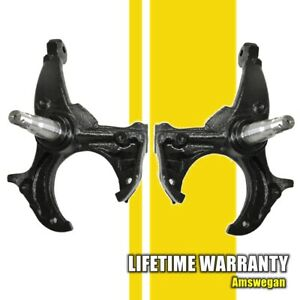 Steering Spindle Knuckle Pair For Buick Chevy Gmc Isuzu Olds Pontiac Gm A G Body