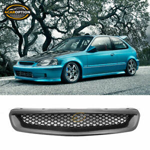 Fits 96 98 Honda Civic Abs Jdm T r Style Replacement Front Hood Bumper Grille