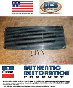 1970 74 Plymouth Cuda Barracuda Dashboard Speaker Grille Cover New Mopar