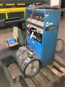 Miller Syncrowave 351 Tig Welder Water Cooled Foot Pedal 2 Leads free Loading