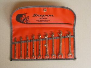 Snap On 9 Pc Sae 15 60 Offset Open End Ignition 1 8 3 8 Wrench Set Ds809k