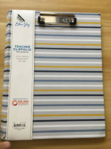 Clipfolio Hardcover With Notepad Stripes