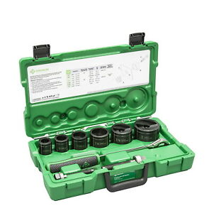 Greenlee 7238sb Slug buster Knockout Kit With Ratchet Wrench Punch Set New