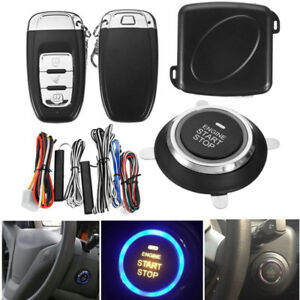 9 Start Push Button Remote Starter Keyless Entry Car Alarm System Engine Quality