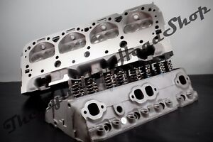 Performance 327 350 400 Chevy Cylinder Heads 185 Sbc New Guides 500 Springs Z28