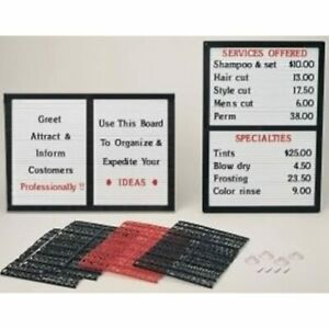 Counter wall Message Board Sign With Interchangeable Letters Open Faced Boards