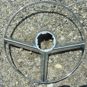 1953 53 1954 54 Mercury Steering Wheel Chrome Horn Ring Trim Interior Oem
