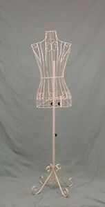 32 22 32 Female Steel Wire Mannequin Dress Form On Decorative Stand pnk