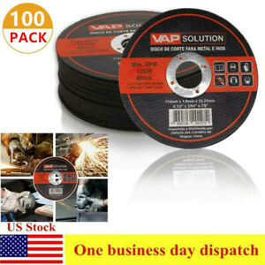 100pcs 4 1 2 X 7 8 X 3 64 Cut Off Wheels Stainless Steel Metal Cutting Discs