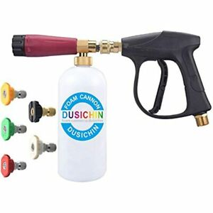 Dus 114 Snow Foam Cannon Lance Pressure Washer Nozzle Tip Spray Gun 3000 Psi Jet