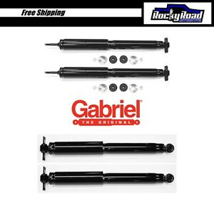 Front Rear Shocks For 1997 2006 Jeep Wrangler Tj Gabriel Pro guard