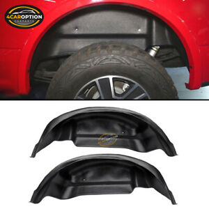 Fits 15 18 Ford F 150 Rear Wheel Well Guards Liners Fender Mud Flaps Unpainted