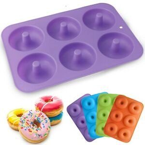 12Pc Silicone 6-Cavity Silicone Doughnut Mould Donut Chocolate Muffin Pan Tray $85.00