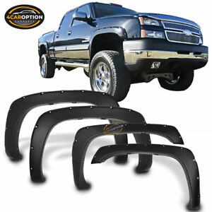 Fits 99 07 Chevy Silverado 1500 2500 3500 Pocket Style Fender Flares Offroad 4x4