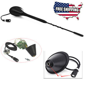 Car 12v Roof Radio Fm Antenna Aerial Amplifier Booster W passive Quick Connector