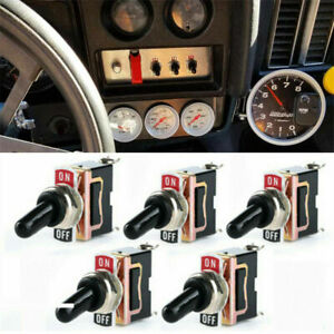 5pack Toggle Switch Spst On off Heavy Duty 2 Pin 12v 25a Waterproof For Car Boat