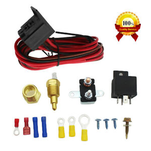 Electric Radiator Engine Fan Thermostat Temperature Switch Relay Kit 3 8 327 Usa
