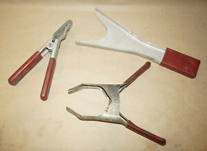 Kent moore Lot Of 3 Vintage Chevy Red Handle Factory Tools