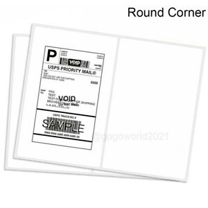 8 5x5 5 Shipping Labels Rounded Corner Self Adhesive 2 Per Sheet 200 5000 Labels