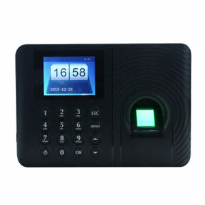 2 4 Intelligent Fingerprint Password Attendance Clock Employee Recorder