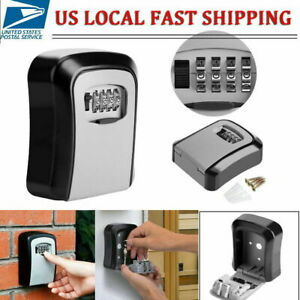 4 digit Password Combination Key Lock Box Wall Mount Safe Security Storage Case
