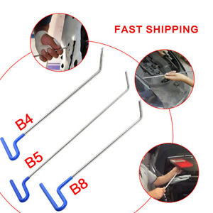 Set 3x Auto Body Dent Removal Rod Kit Hail And Door Ding Repair B Tools New