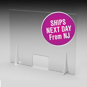Sneeze Guard Clear Acrylic Physical Barrier Counter Window Protective Guard