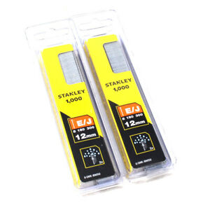 Twin Pack 2000x Stanley 15mm Brad Nails Sta0swkbn050 Use With Nail Staple Gun